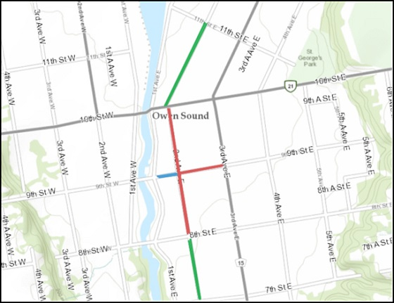 downtown road closure