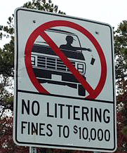 No littering sign in Cape Cod