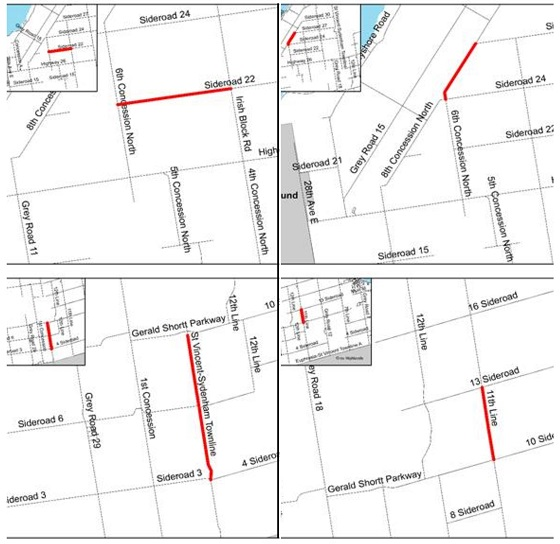 meaford road closures