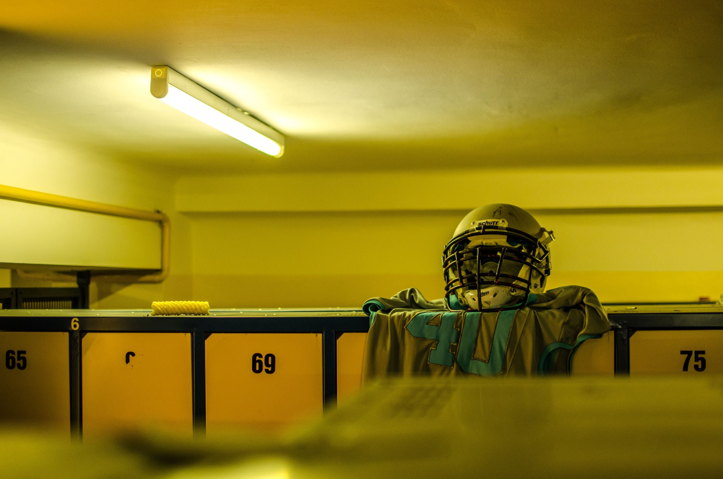 american football blur changing room 271741