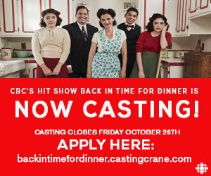 Back in Time for Dinner casting call