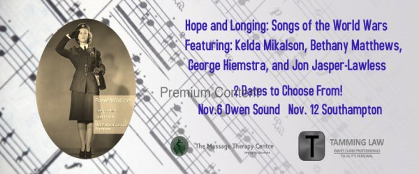 Hope and Longing; songs of the world wars