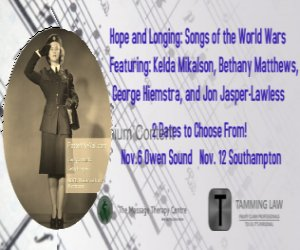 Hope & Longing; Songs from the world wars