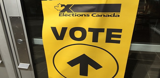 VOTE SIGN ELECTIONS CANADA 2