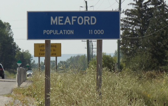 Meaford town sign